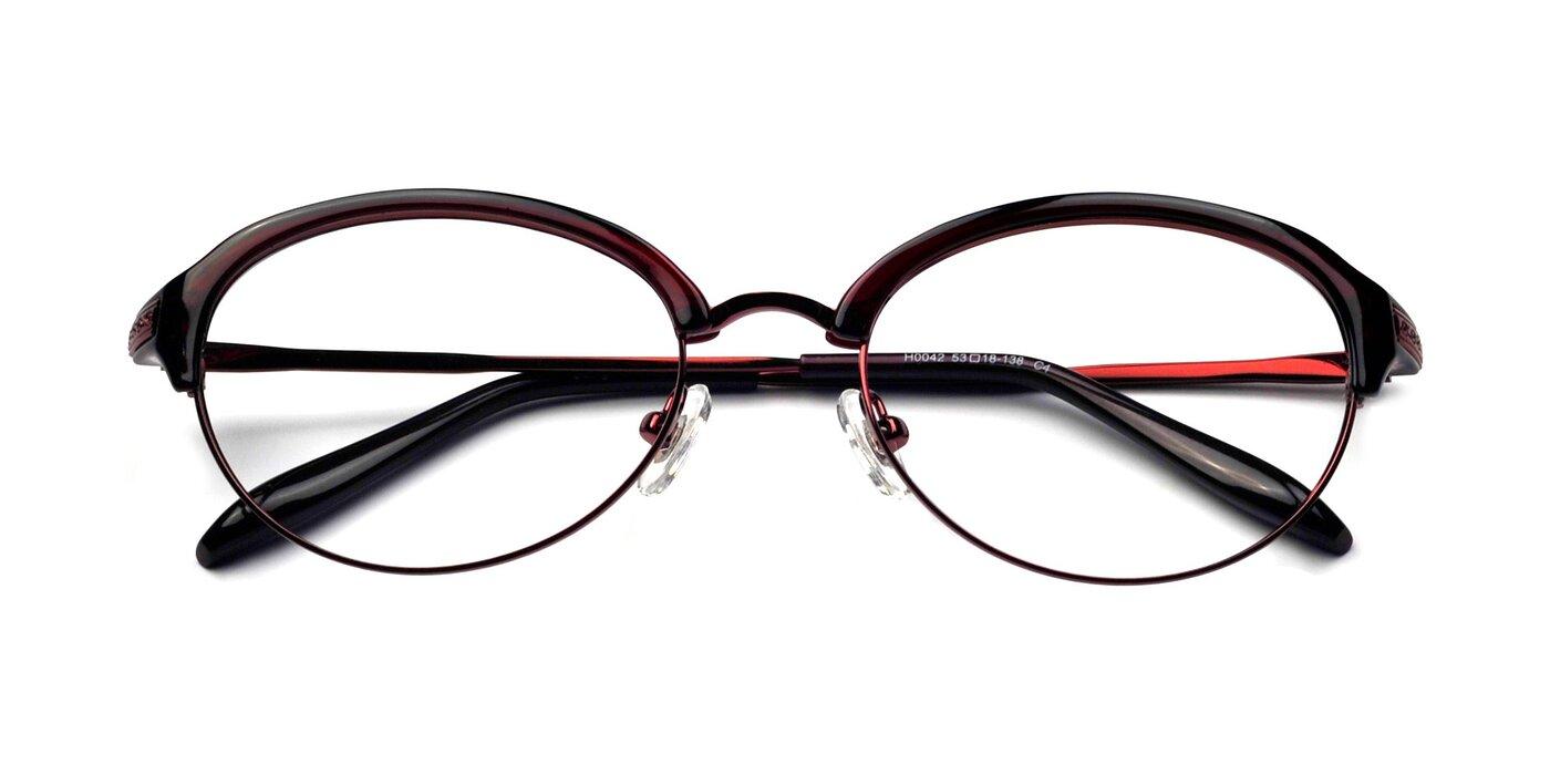 H0042 - Burgundy Eyeglasses