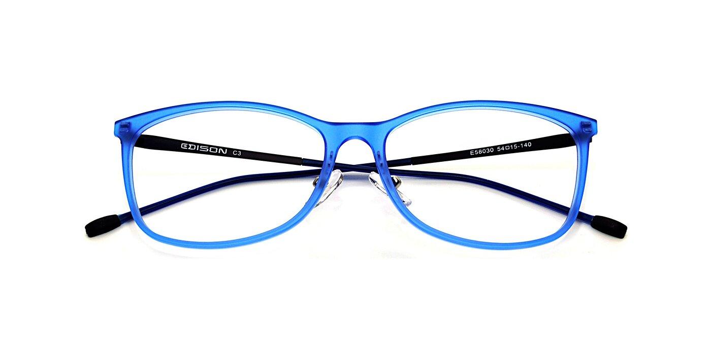 E58030 - Transparent Blue Eyeglasses