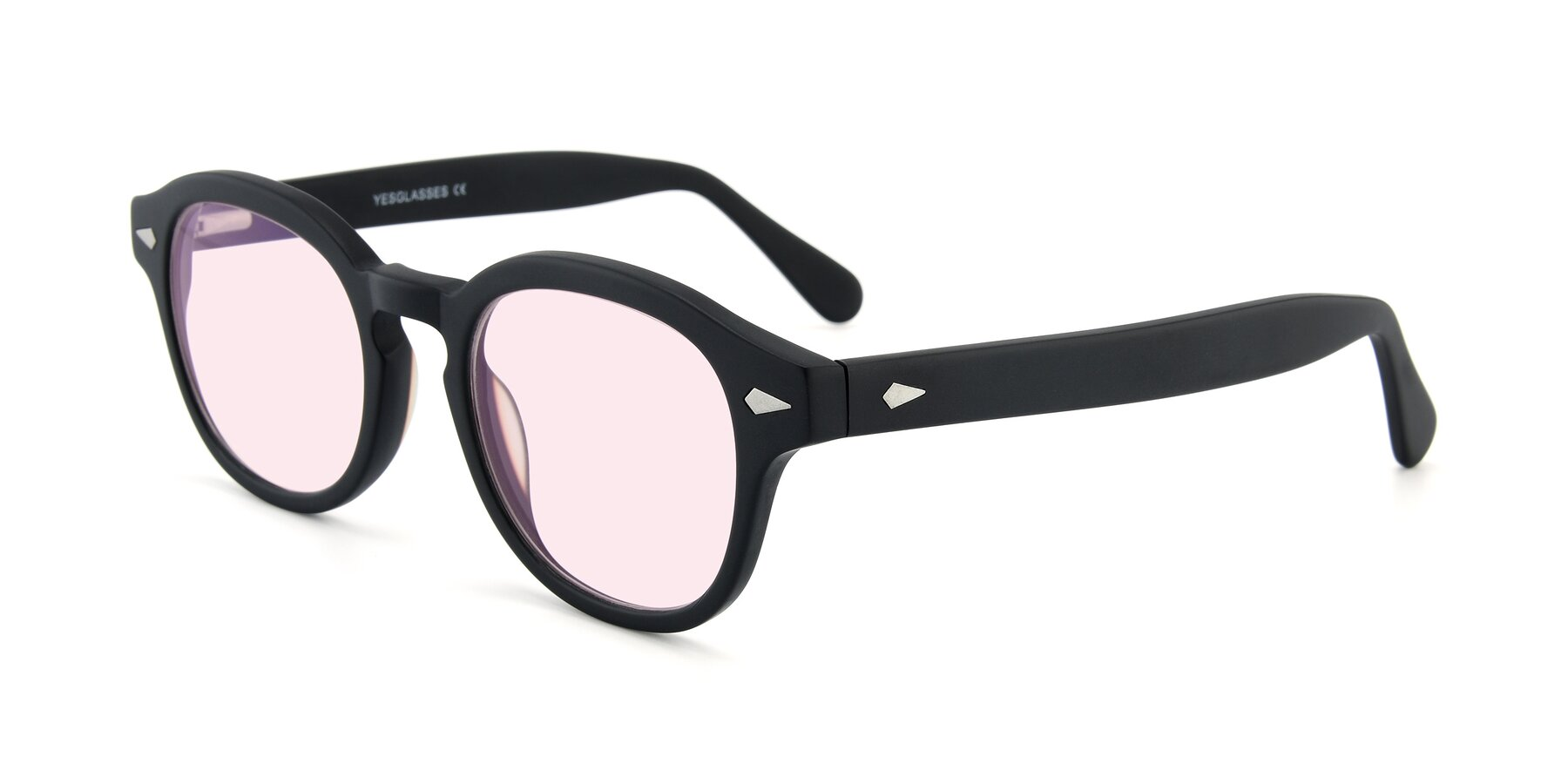 Angle of SR1609 in Matte Black with Light Pink Tinted Lenses