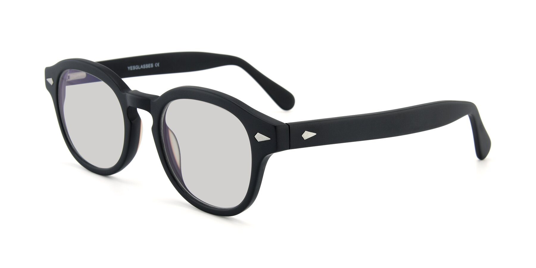 Angle of SR1609 in Matte Black with Light Gray Tinted Lenses