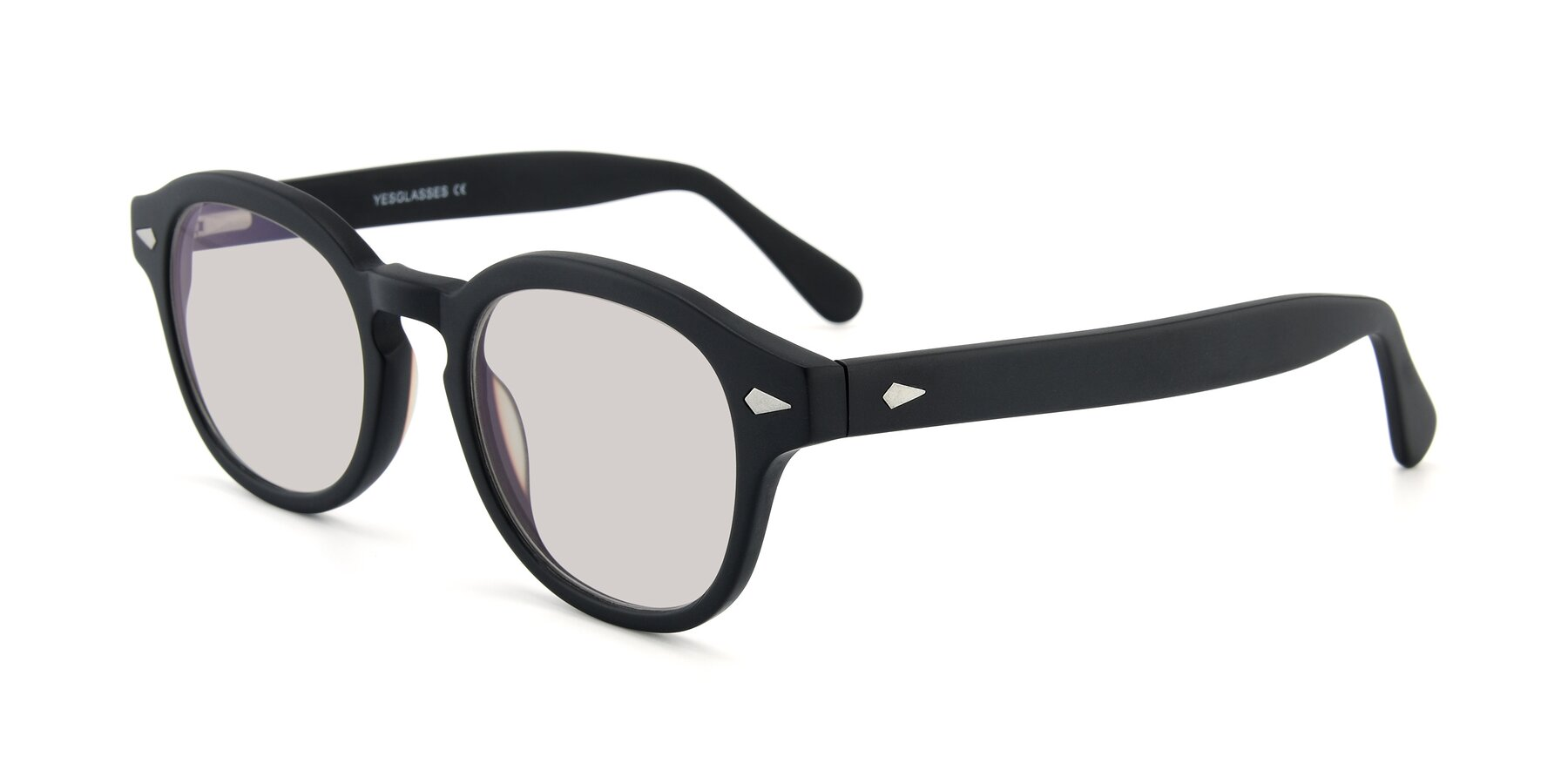 Angle of SR1609 in Matte Black with Light Brown Tinted Lenses