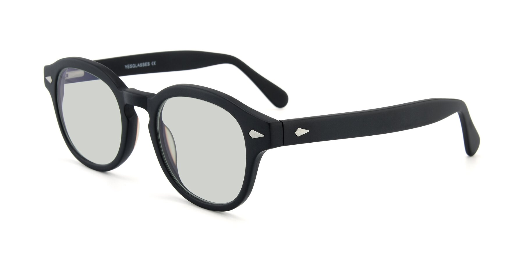 Angle of SR1609 in Matte Black with Light Green Tinted Lenses