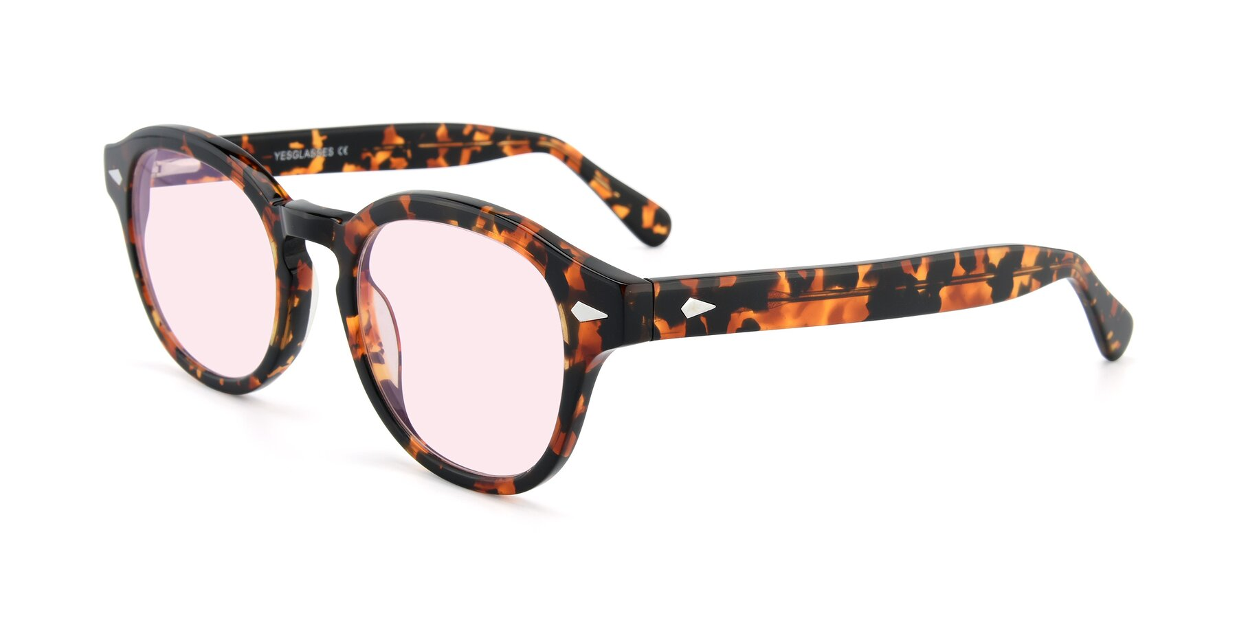 Angle of SR1609 in Tortoise with Light Pink Tinted Lenses