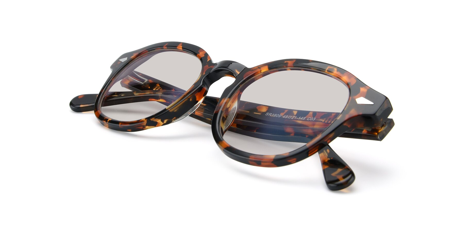 View of SR1609 in Tortoise with Light Brown Tinted Lenses