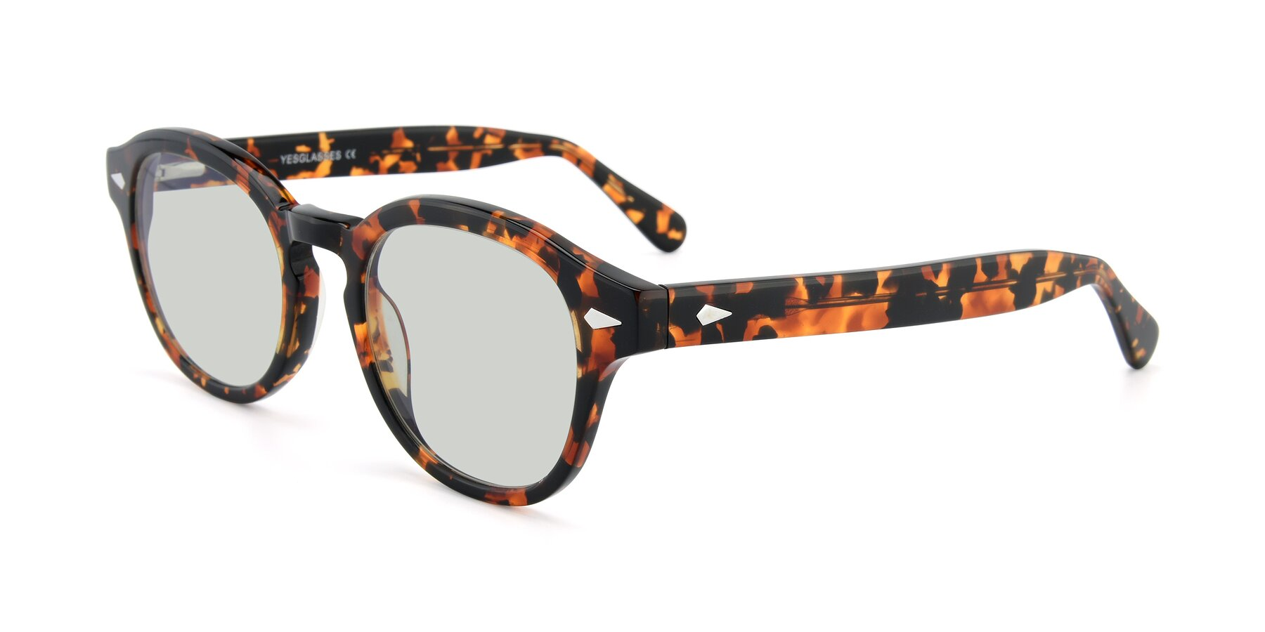 Angle of SR1609 in Tortoise with Light Green Tinted Lenses