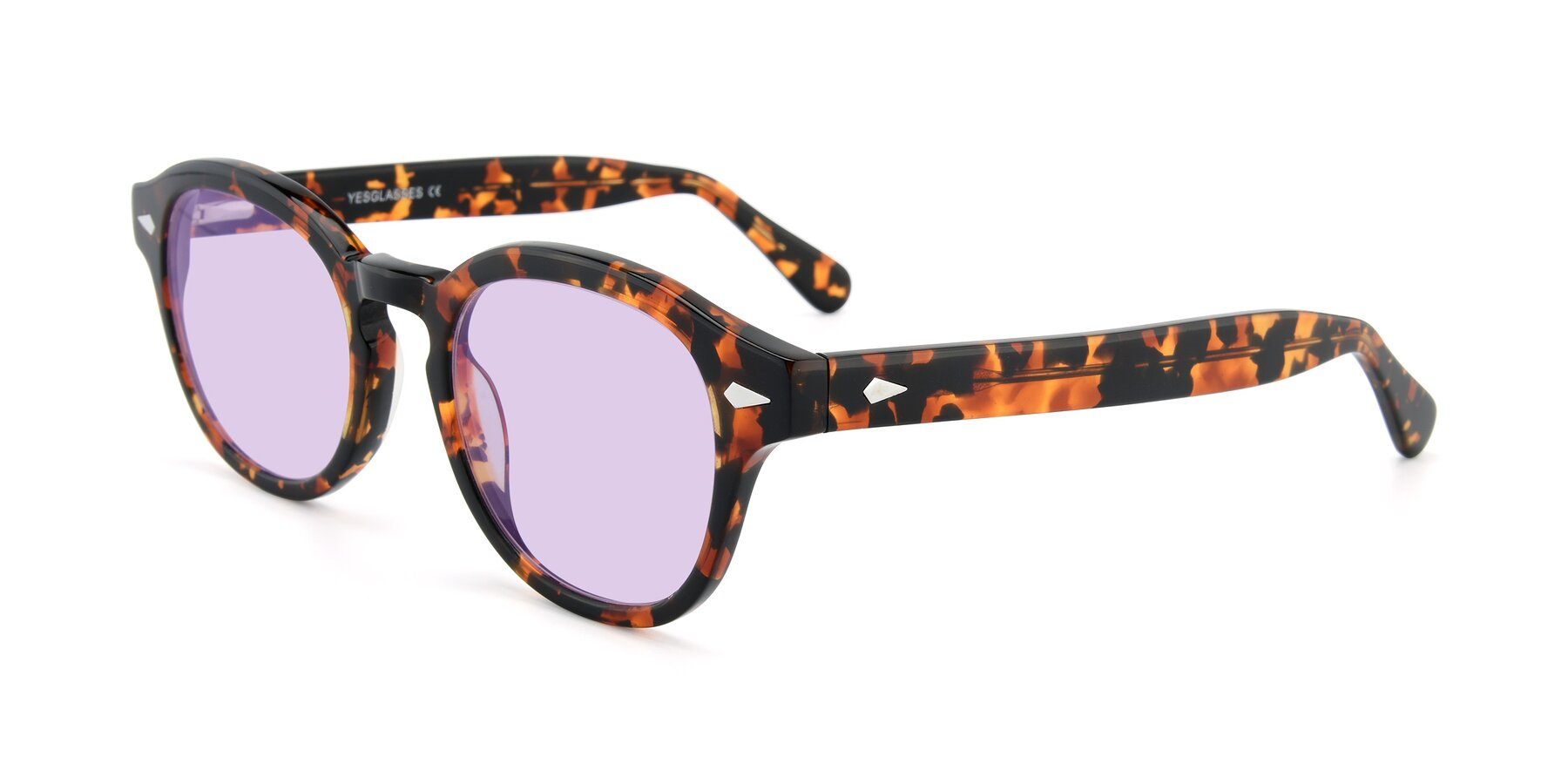 Angle of SR1609 in Tortoise with Light Purple Tinted Lenses