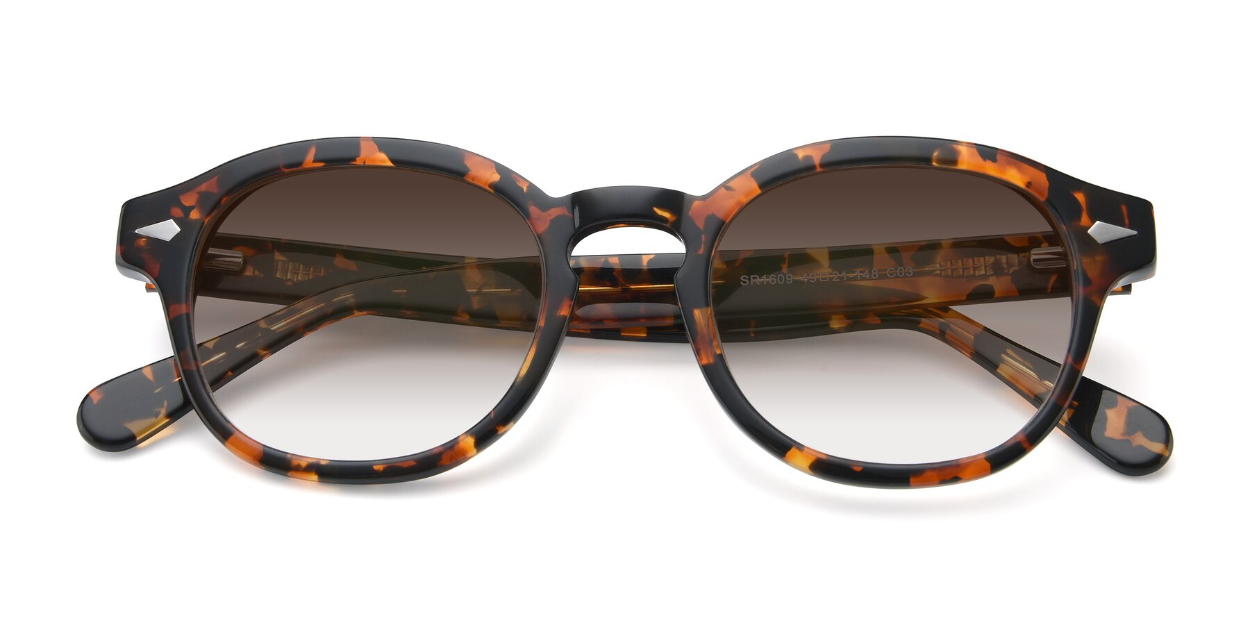 Folded Front of SR1609 in Tortoise with Brown Gradient Lenses