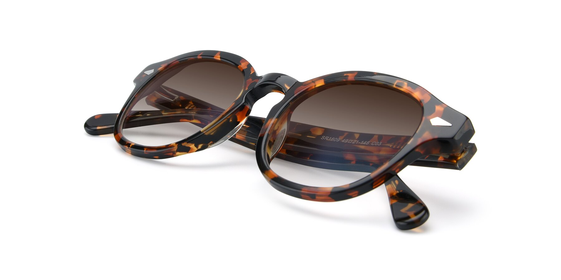 View of SR1609 in Tortoise with Brown Gradient Lenses