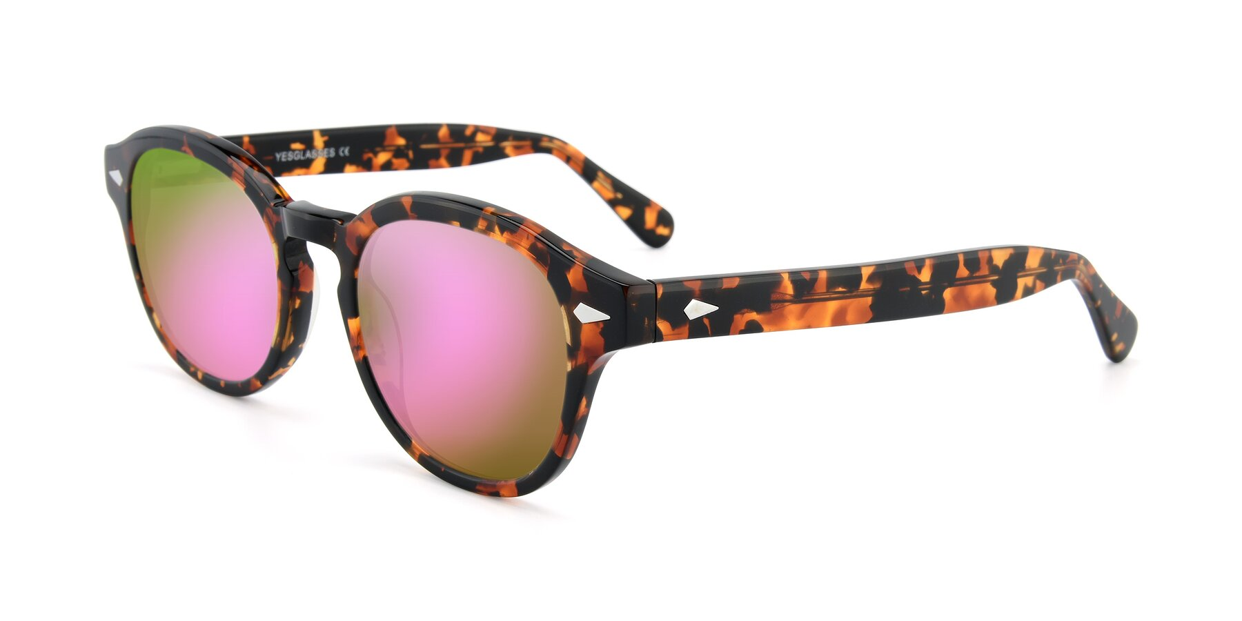 Angle of SR1609 in Tortoise with Pink Mirrored Lenses
