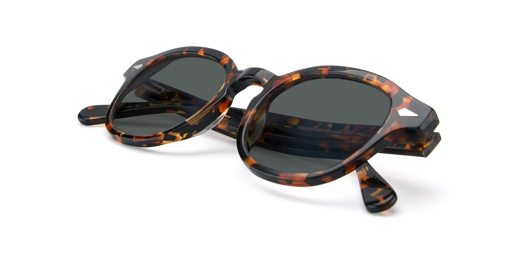 View of SR1609 in Tortoise with Gray Polarized Lenses
