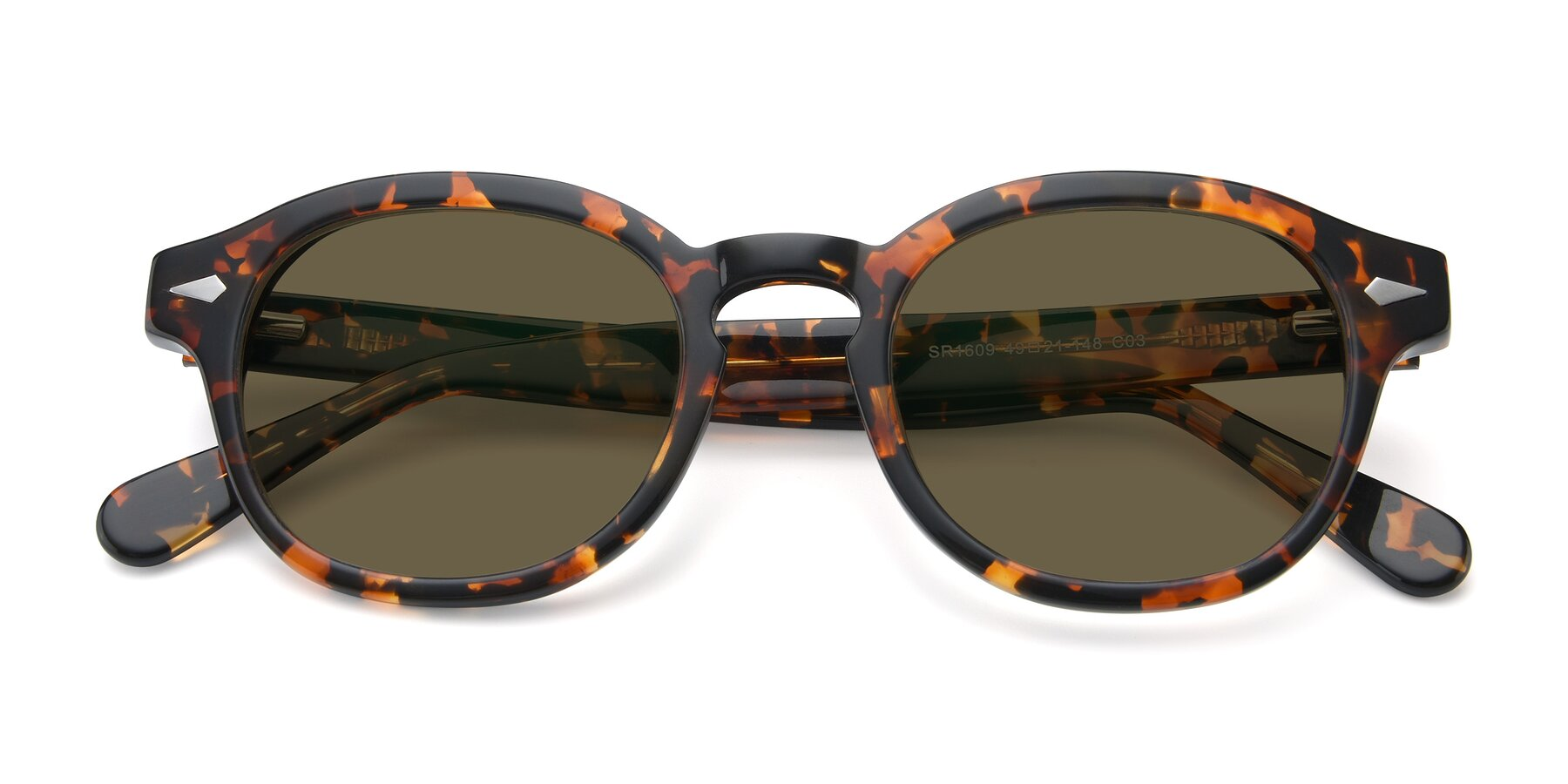 Folded Front of SR1609 in Tortoise with Brown Polarized Lenses