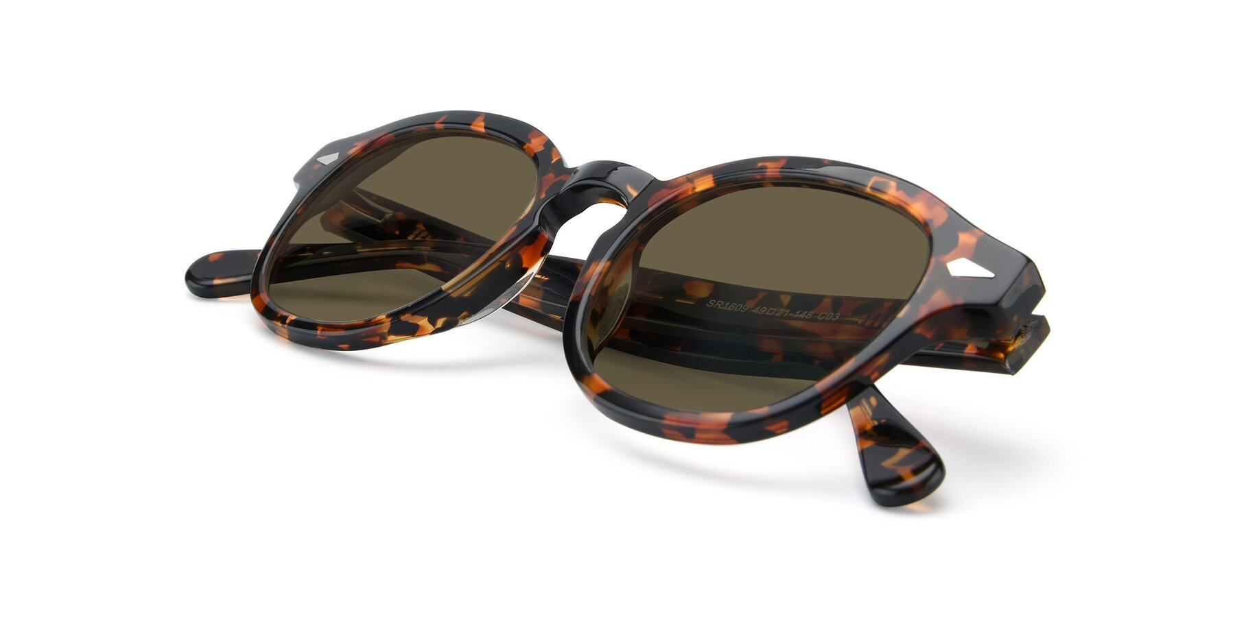 View of SR1609 in Tortoise with Brown Polarized Lenses