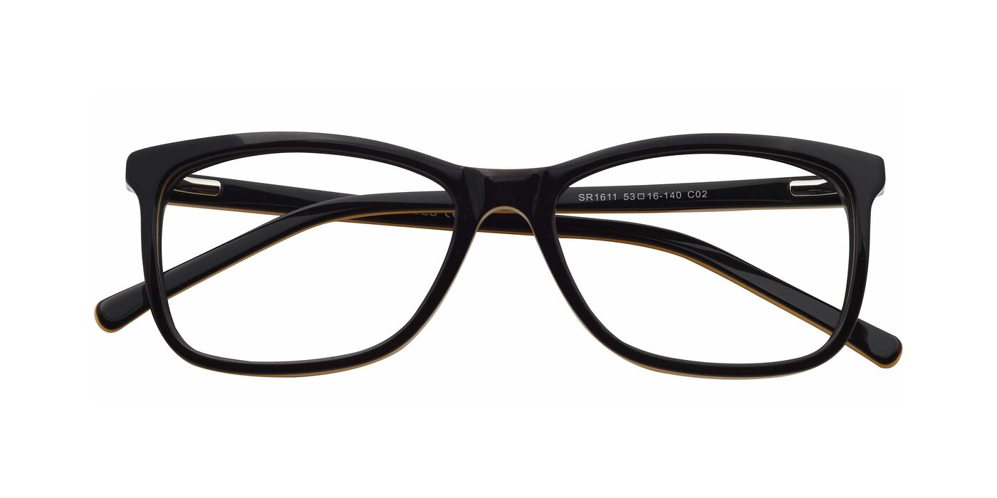 SR1611 - Black / Orange Eyeglasses