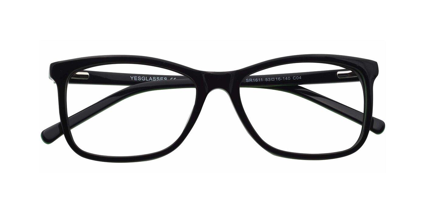 SR1611 - Black / Green Eyeglasses