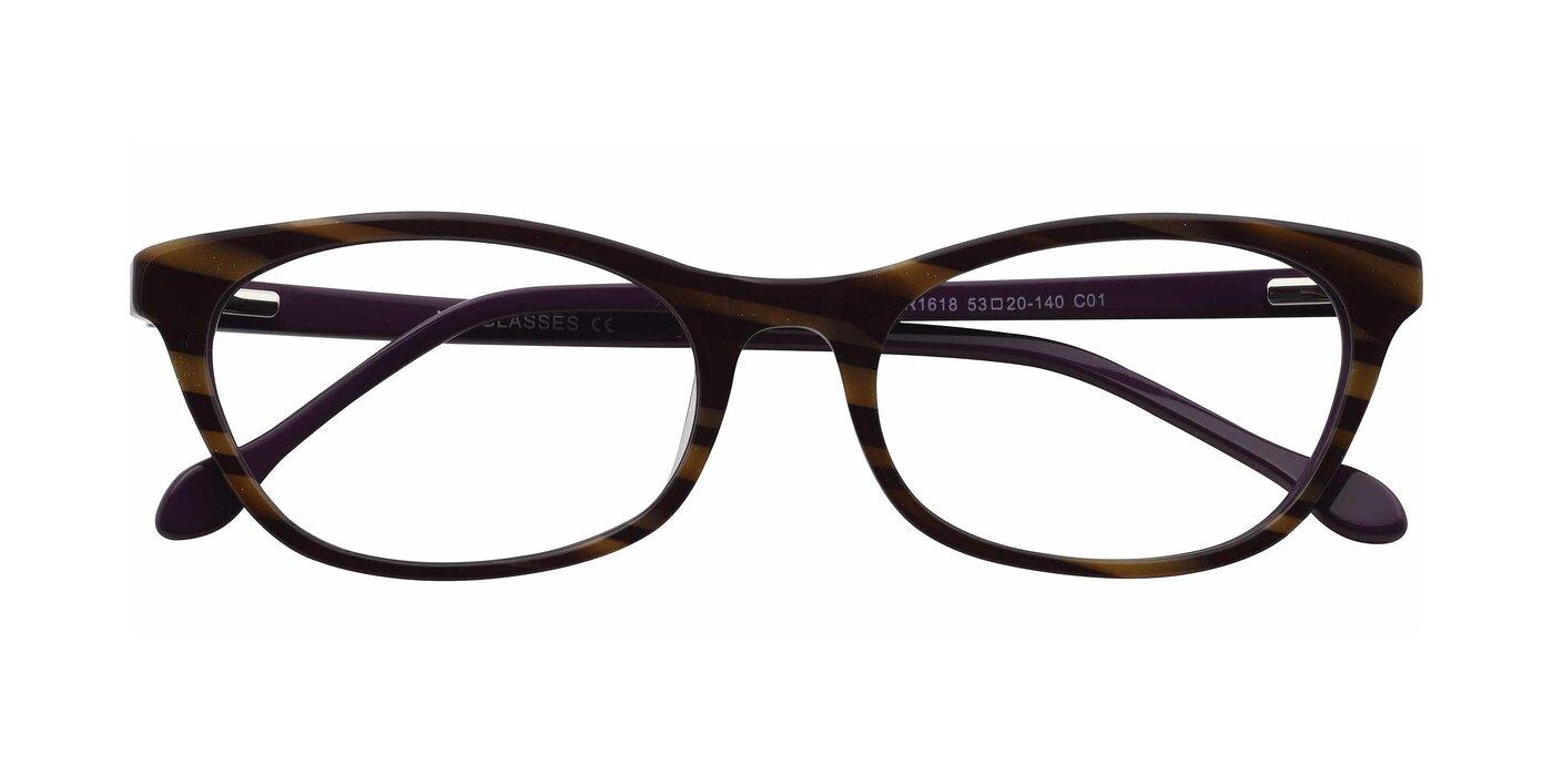 SR1618 - Striped Coffee Eyeglasses