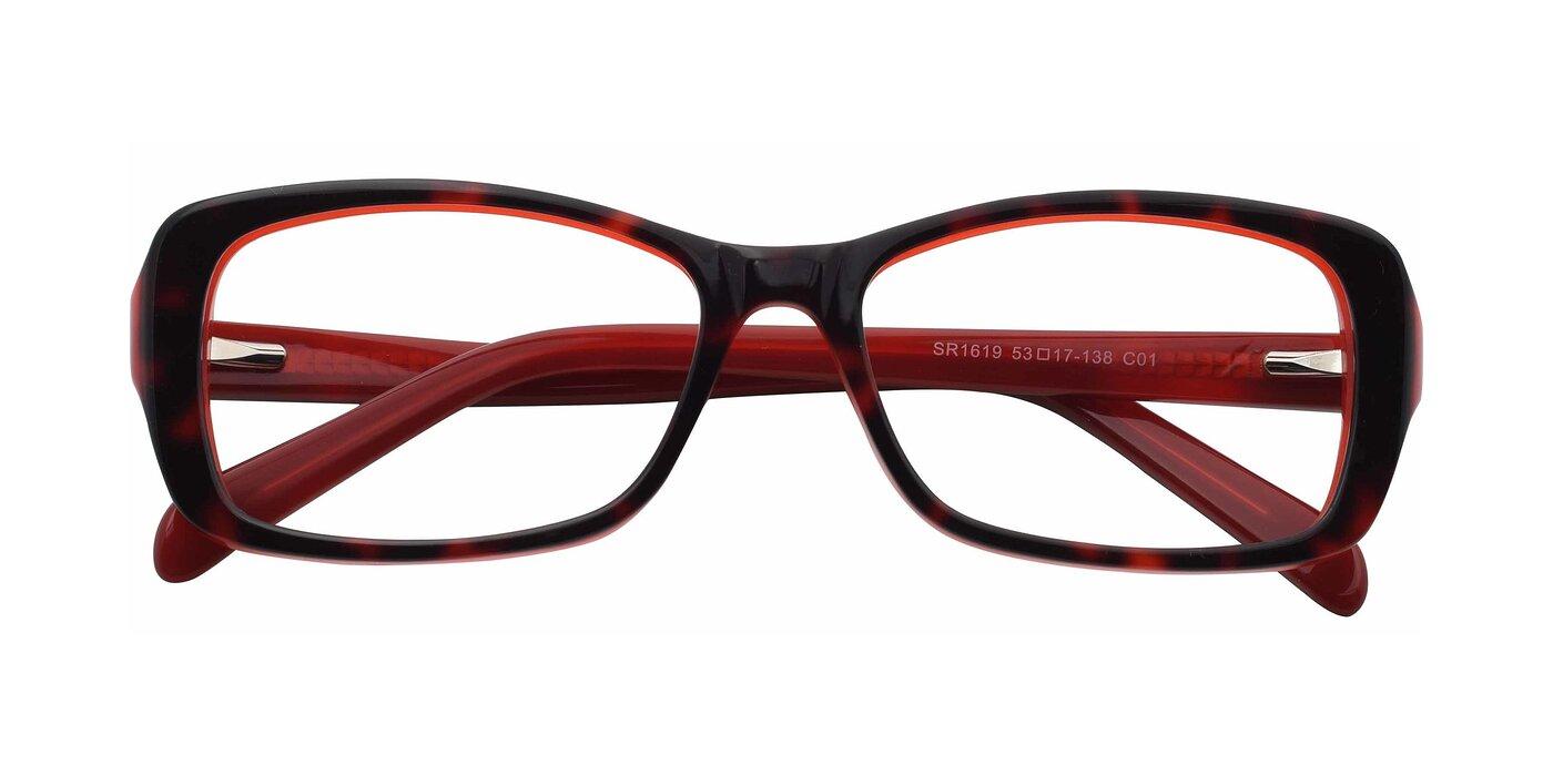 SR1619 - Black / Red Eyeglasses
