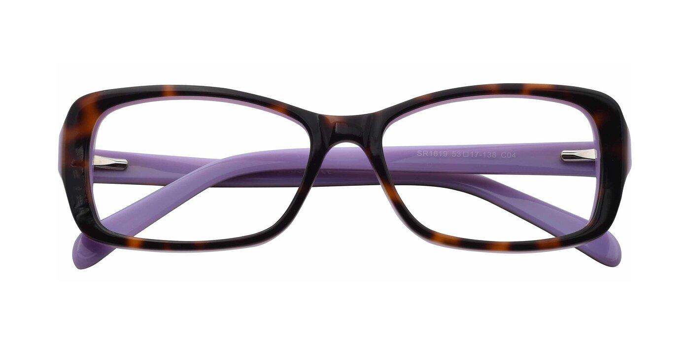 SR1619 - Tortoise / Purple Eyeglasses