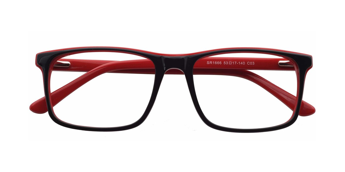 SR1666 - Black / Wine Eyeglasses