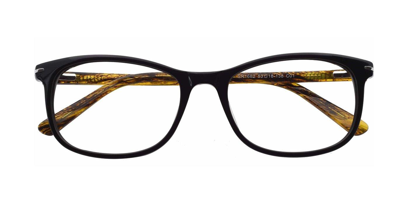 SR1682 - Black / Yellow Eyeglasses