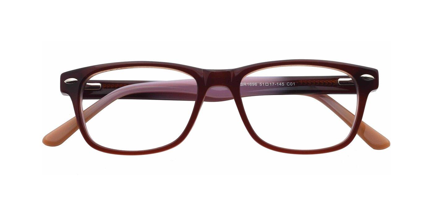 SR1696 - Transparent Gradient Violet Eyeglasses