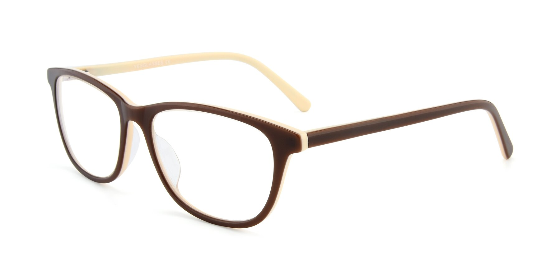 Angle of SR6026 in Coffee with Clear Eyeglass Lenses