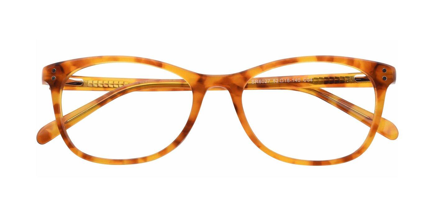 SR6027 - Translucent Orange Tortoise Eyeglasses
