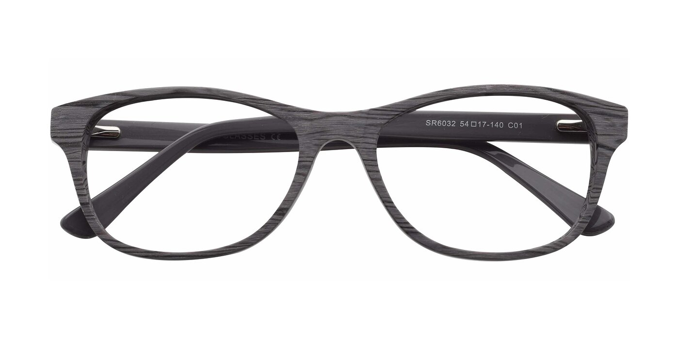 SR6032 - Gray / Wooden Eyeglasses