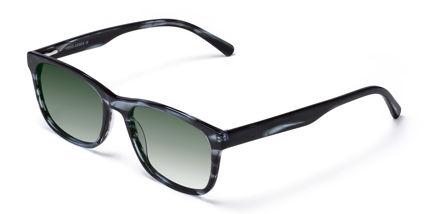 Angle of SR6035 in Blue-Tortoise with Green Gradient Lenses