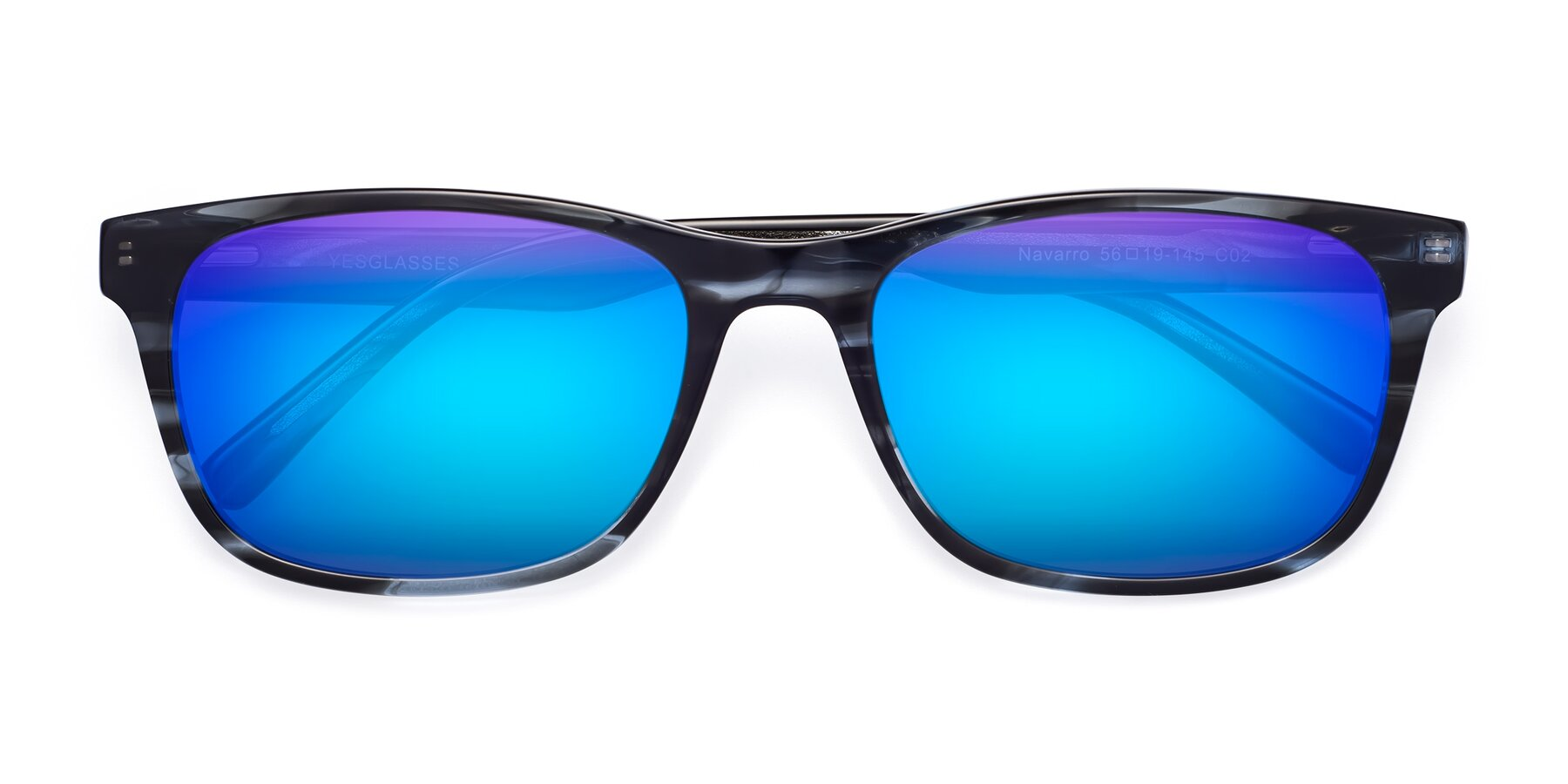 Folded Front of SR6035 in Blue-Tortoise with Blue Mirrored Lenses