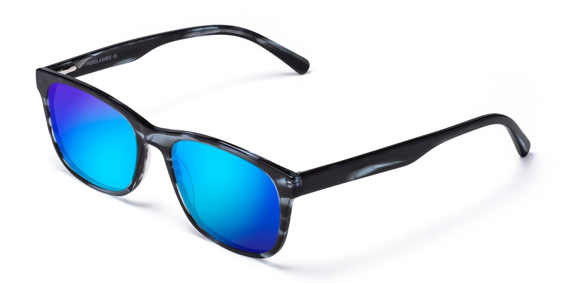 Angle of SR6035 in Blue-Tortoise with Blue Mirrored Lenses