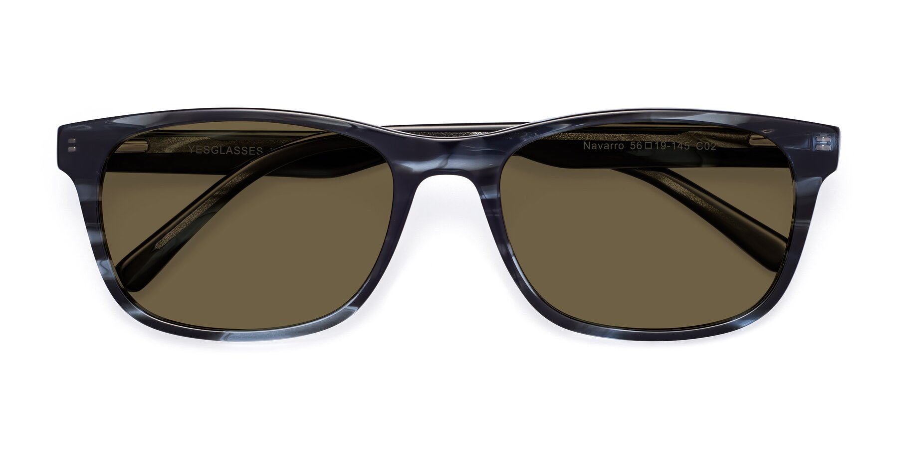 Folded Front of SR6035 in Blue-Tortoise with Brown Polarized Lenses