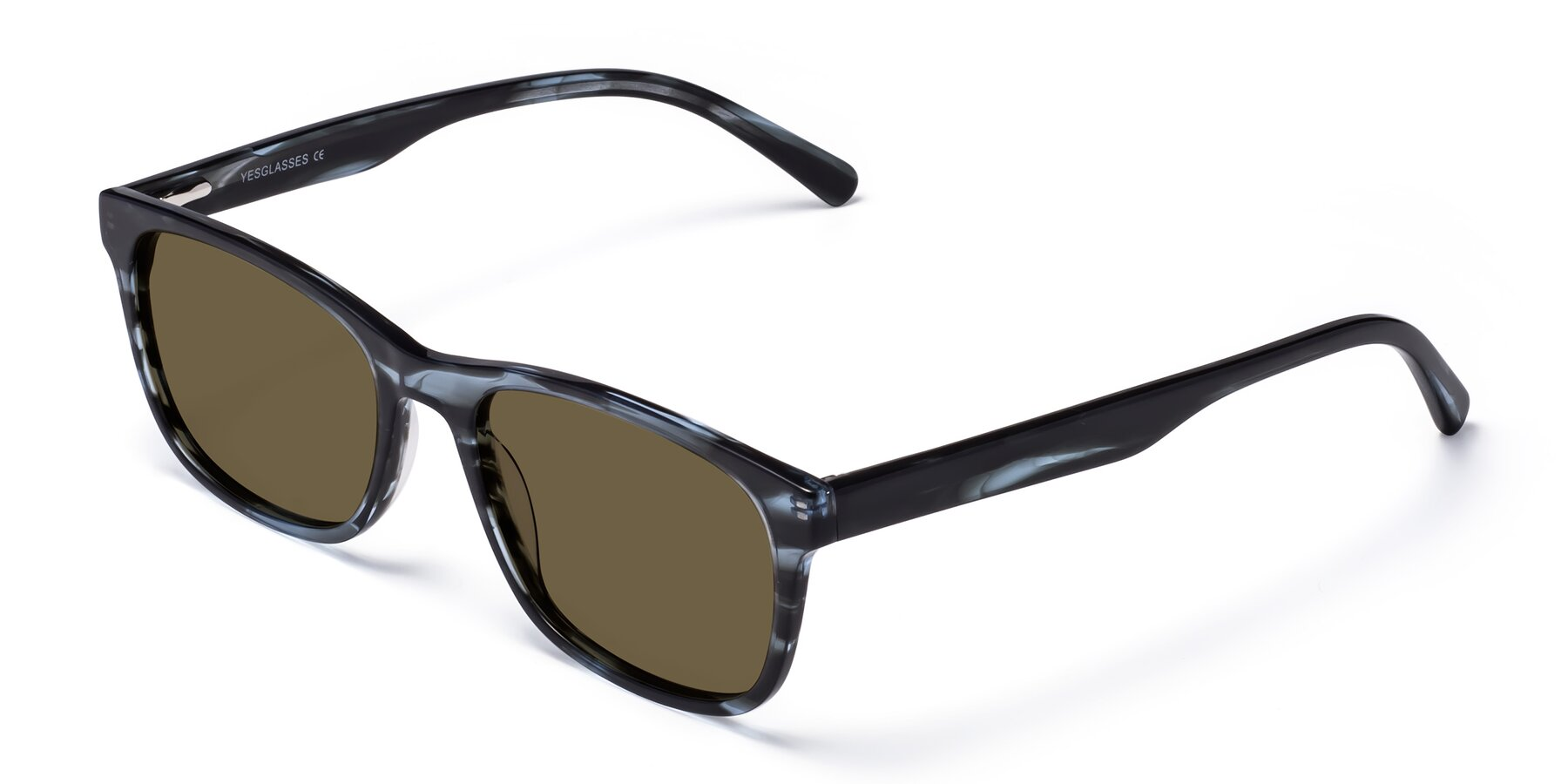 Angle of SR6035 in Blue-Tortoise with Brown Polarized Lenses