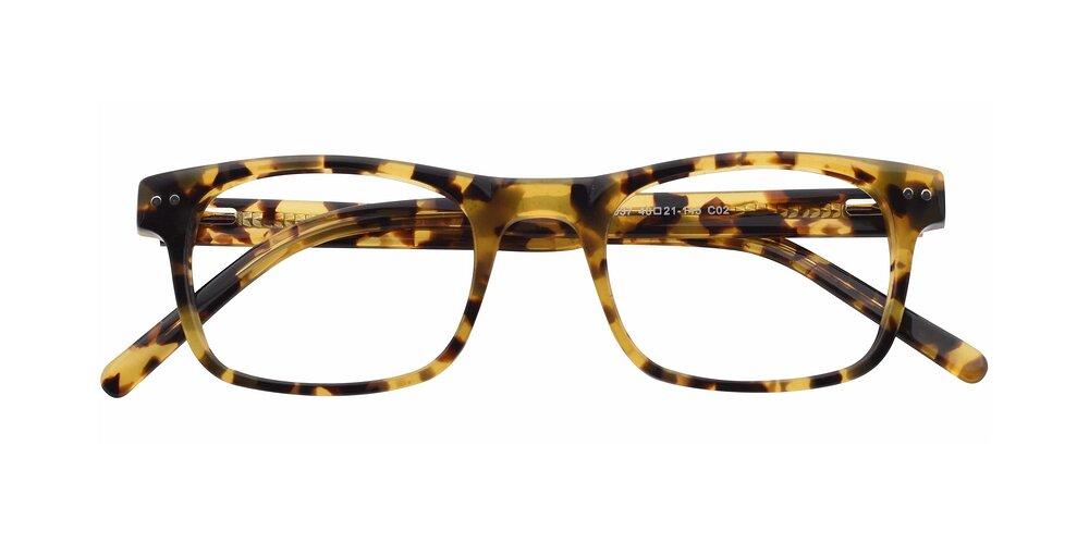 Tortoise Horn-Rimmed Hipster Acetate Rectangle Eyeglasses