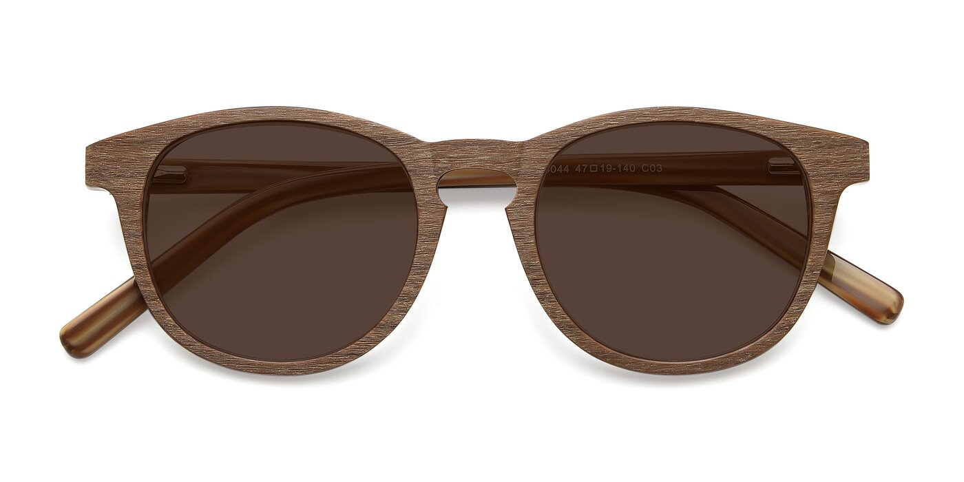 SR6044 - Brown / Wooden Tinted Sunglasses