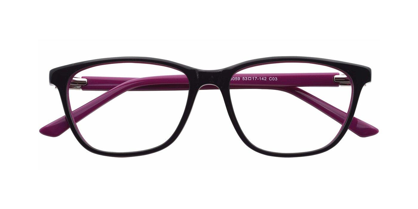 SR6059 - Black / Purple Eyeglasses