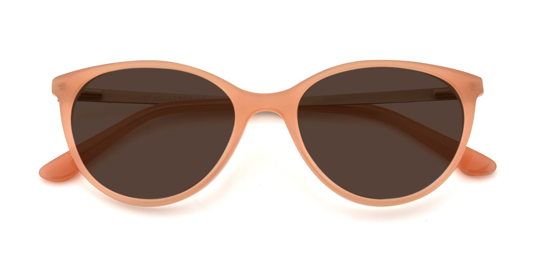 Folded Front of SR6062 in Pink with Brown Tinted Lenses