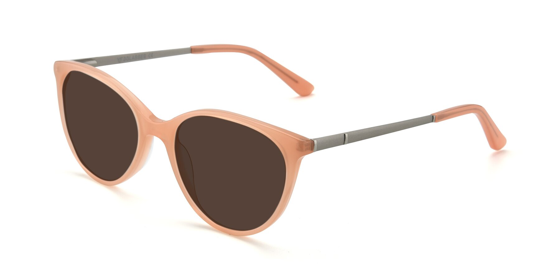 Angle of SR6062 in Pink with Brown Tinted Lenses