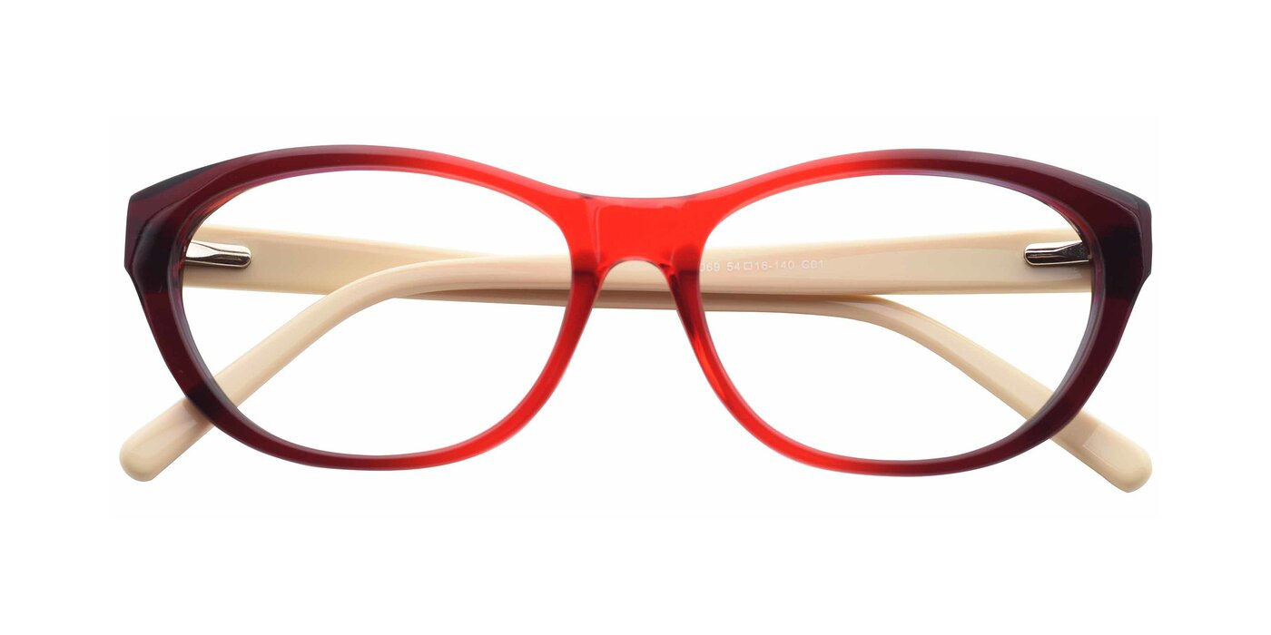 SR6069 - Transparent Gradient Wine Eyeglasses