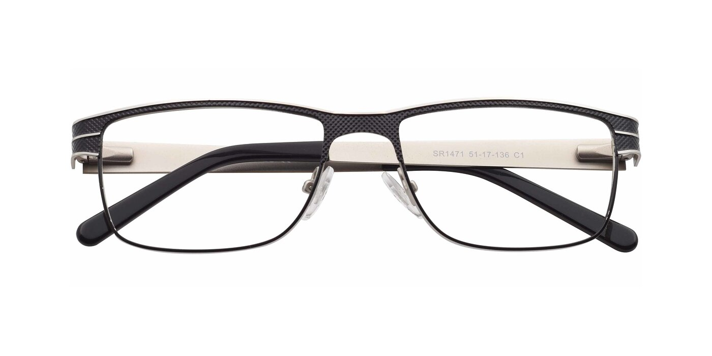 SR1471 - Lase Black / Silver Eyeglasses