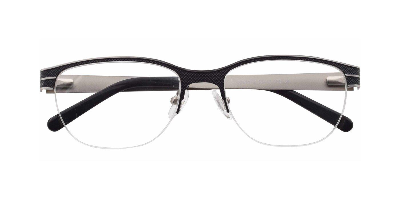 SR1472 - Lase Black / Silver Eyeglasses