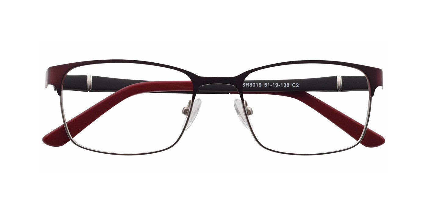 SR8019 - Brown  / Silver Eyeglasses
