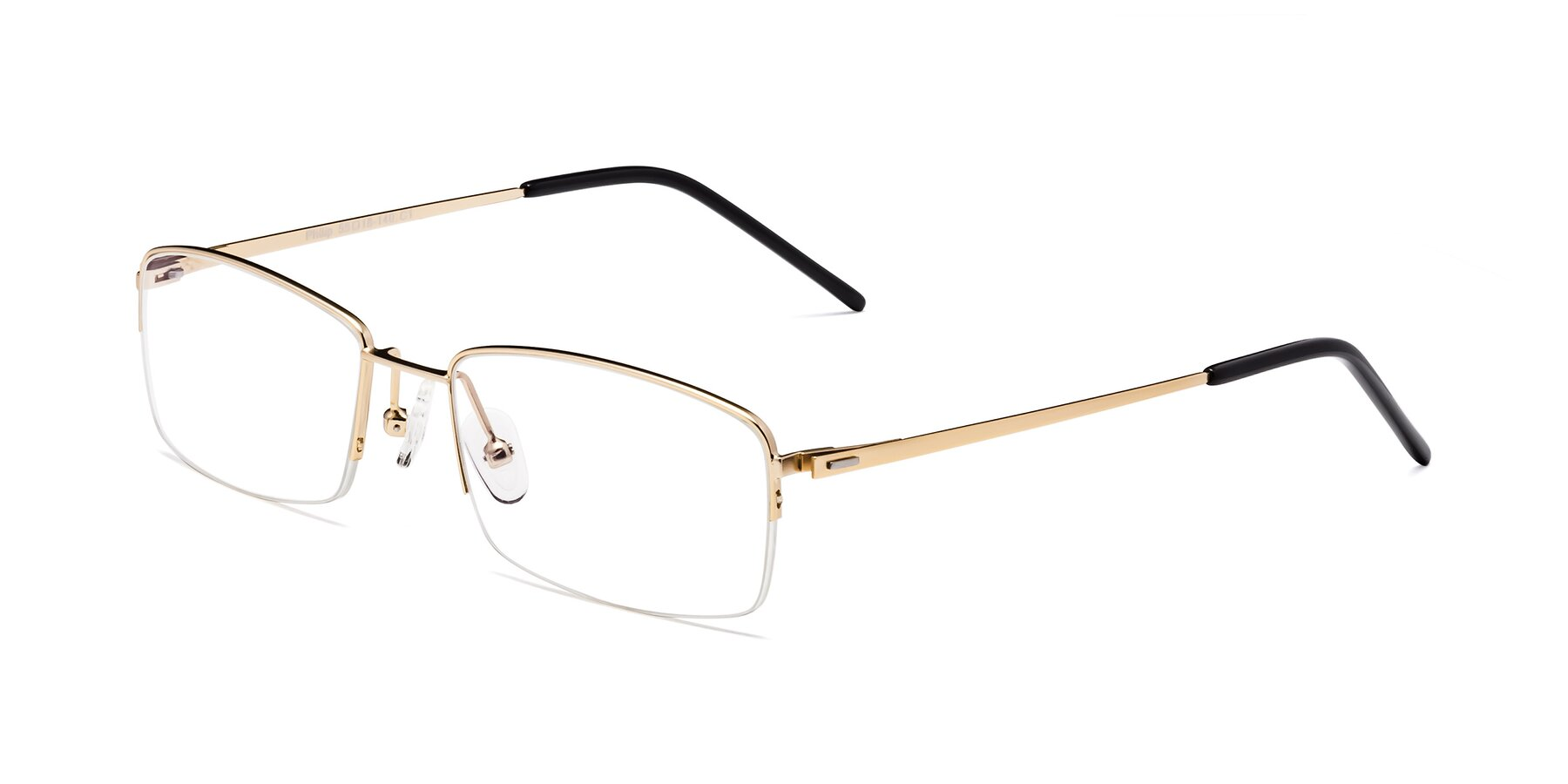 Angle of Philip in Gold with Clear Blue Light Blocking Lenses