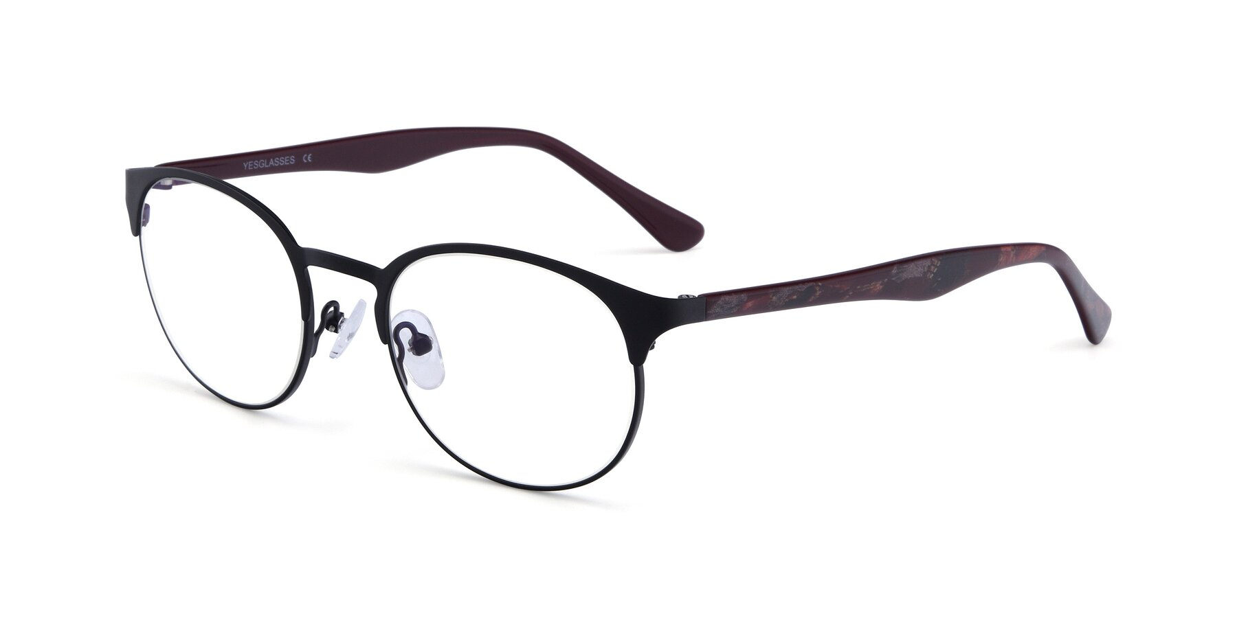 Angle of SR8026 in Black with Clear Blue Light Blocking Lenses