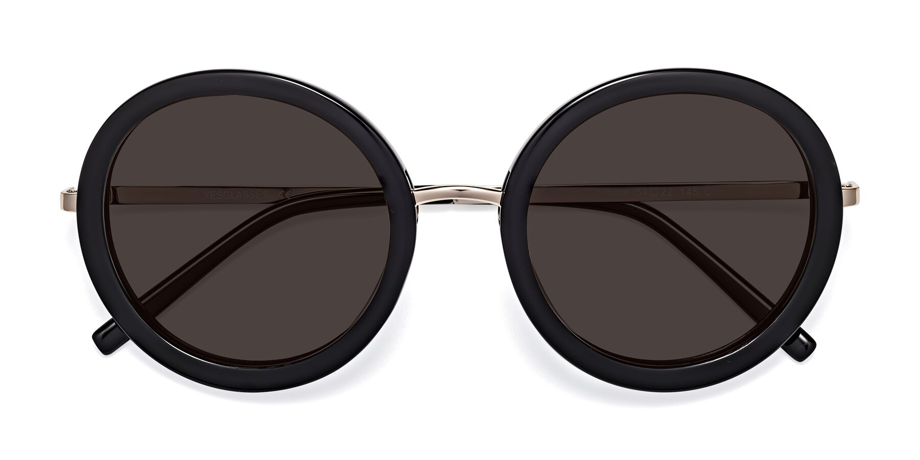 Folded Front of Bloom in Black with Gray Tinted Lenses
