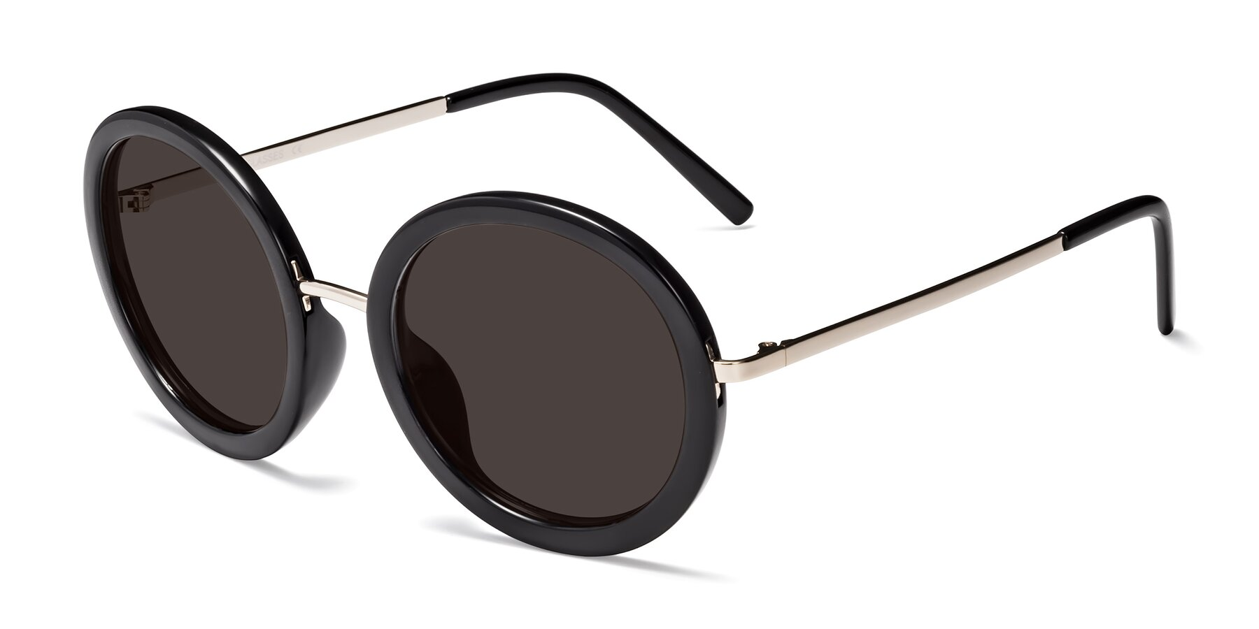 Angle of Bloom in Black with Gray Tinted Lenses