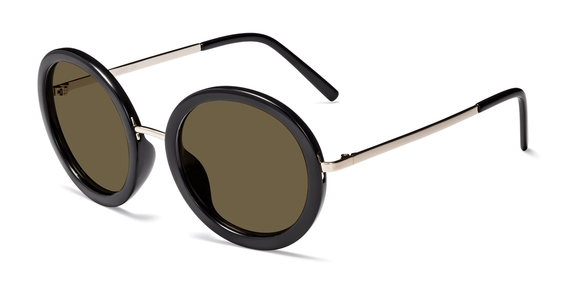 Angle of Bloom in Black with Brown Polarized Lenses