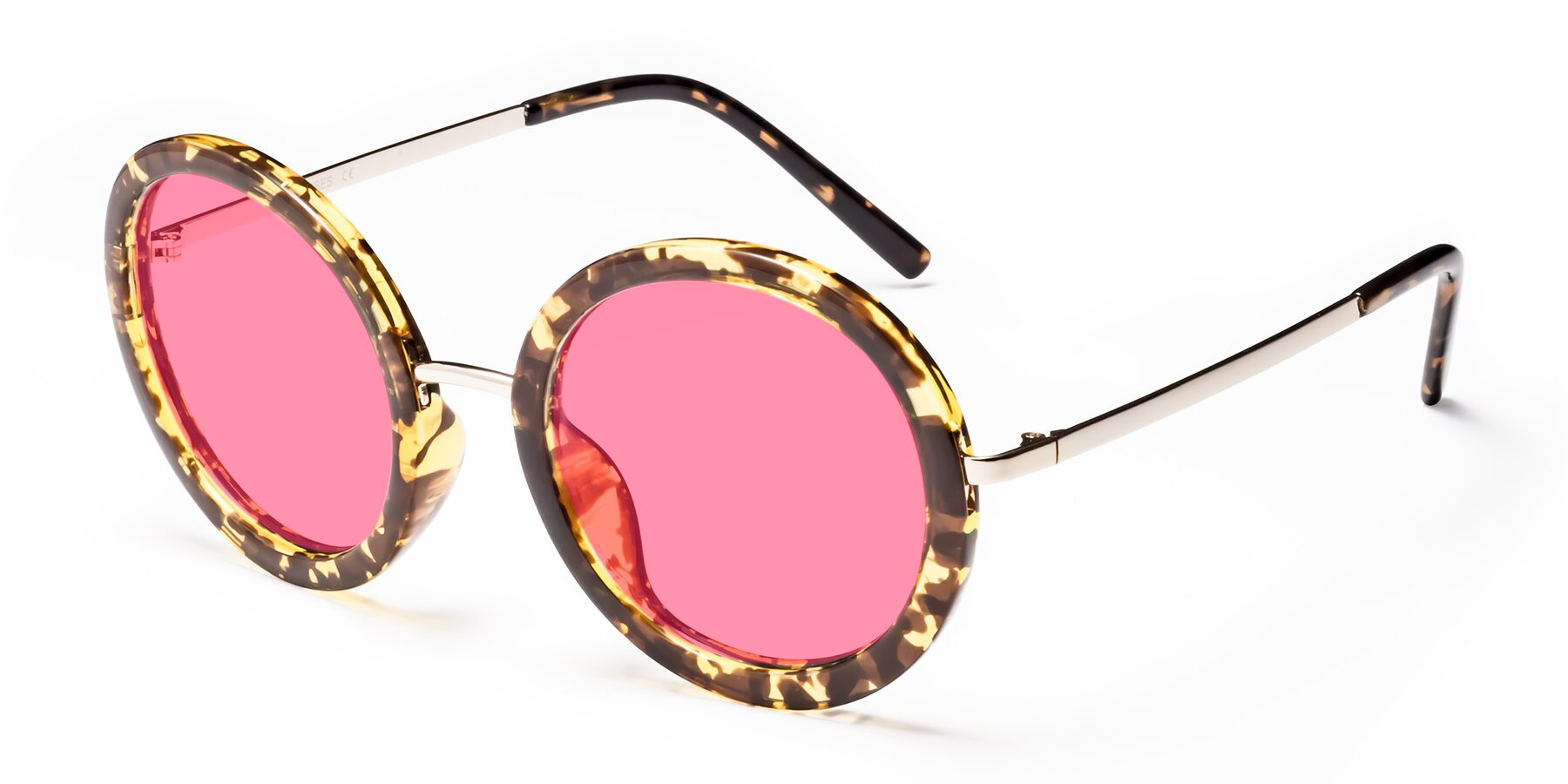 Angle of Bloom in Transparent Tortoise with Pink Tinted Lenses