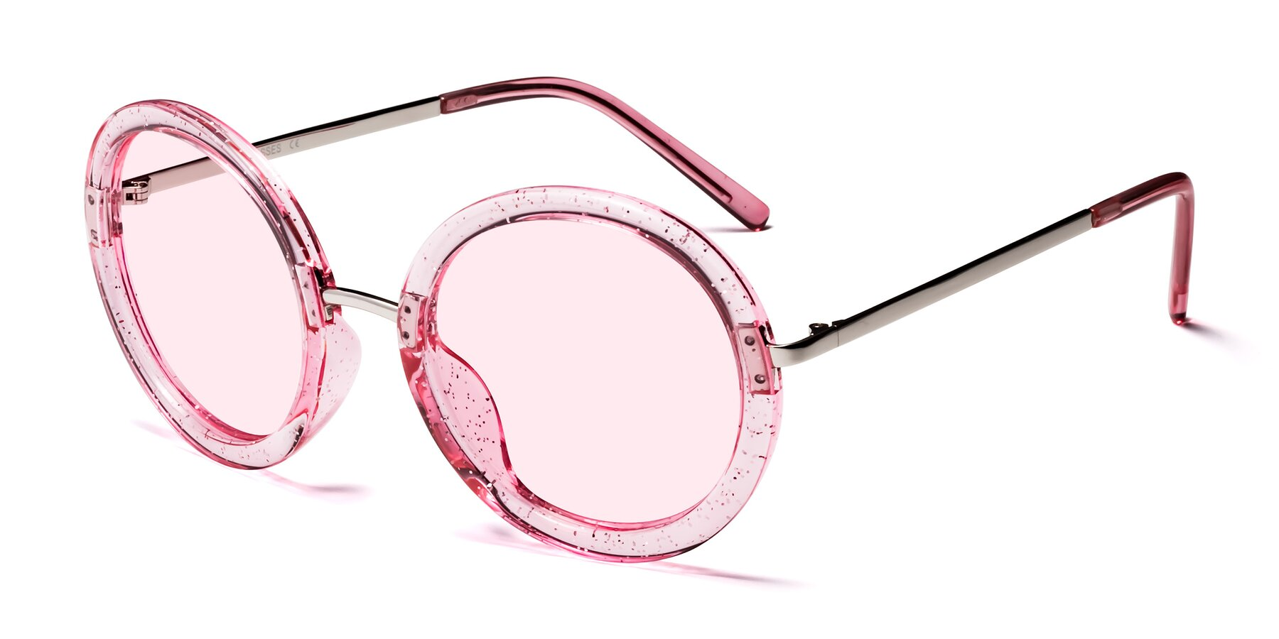 Angle of Bloom in Transparent Pearl Pink with Light Pink Tinted Lenses