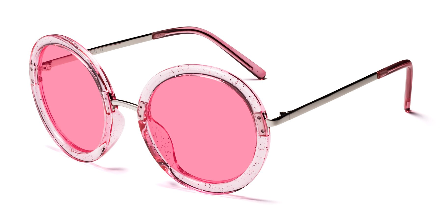 Angle of Bloom in Transparent Pearl Pink with Pink Tinted Lenses