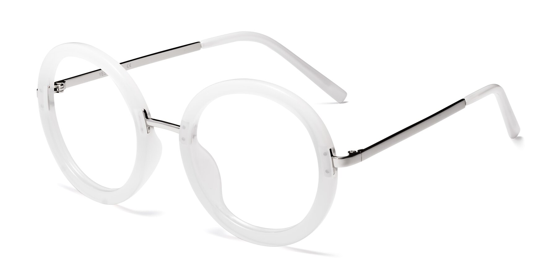 Angle of Bloom in Transparent Glacier Grey with Clear Blue Light Blocking Lenses